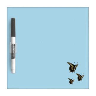 Tablero seco de Eraise - mariposas de Swallowtail Pizarras Blancas De Calidad