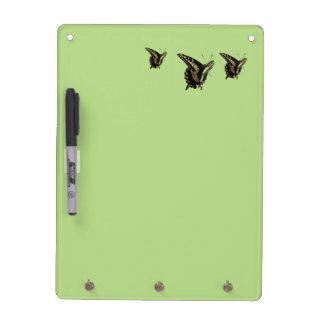 Tablero seco de Eraise - mariposas de Swallowtail Tableros Blancos