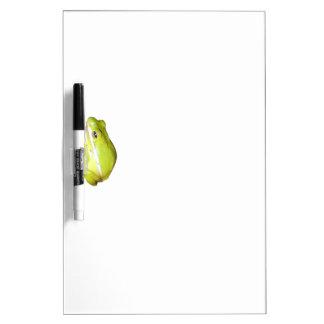 Tablero seco de la nota del borrado de la rana arb pizarra blanca