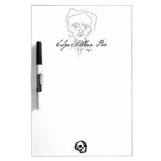 Tablero seco del borrado de Edgar Allan Poe Pizarra