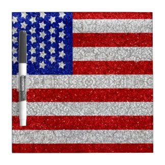 Tablero seco del borrado de la bandera americana d tableros blancos