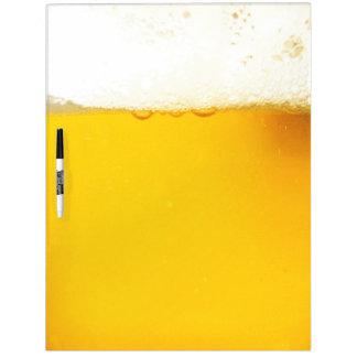Tablero seco del borrado de la cerveza pizarras