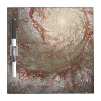Tablero seco del borrado de la galaxia pizarras blancas