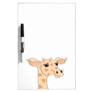 Tablero seco del borrado de la jirafa tableros blancos