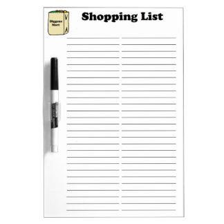 Tablero seco del borrado de la lista de compras pizarras blancas de calidad