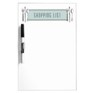 Tablero seco del borrado de la lista de compras tableros blancos