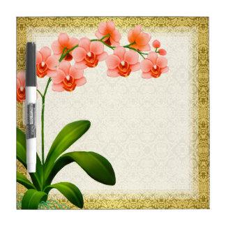 Tablero seco del borrado de la orquídea de polilla tableros blancos