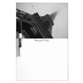 Tablero seco del borrado de París Pizarra Blanca