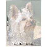 Tablero seco del borrado de Yorkshire Terrier Pizarra Blanca
