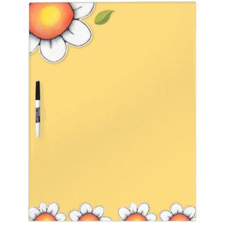 Tablero seco del borrado del amarillo de la alegrí tableros blancos