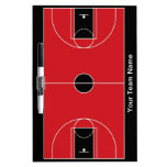 Tablero seco del borrado del baloncesto rojo negro