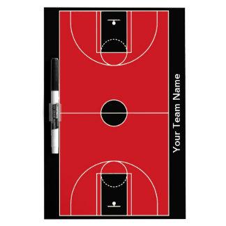 Tablero seco del borrado del baloncesto rojo negro pizarras