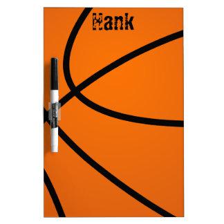 Tablero seco del borrado del baloncesto tablero blanco