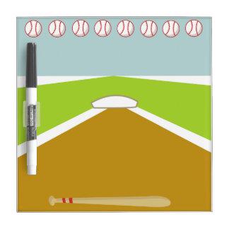 Tablero seco del borrado del béisbol de la meta pizarra blanca