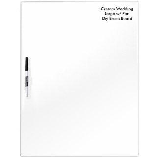 Tablero seco del borrado del boda de encargo con pizarra blanca