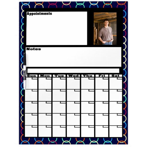 Tablero seco del borrado del calendario de encargo pizarras blancas de calidad