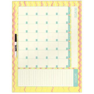Tablero seco del borrado del calendario mensual -  tableros blancos