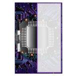 Tablero seco del borrado del circuito electrónico  tablero blanco