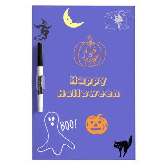 Tablero seco del borrado del feliz Halloween Pizarra Blanca