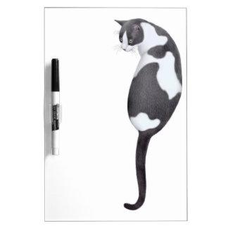 Tablero seco del borrado del gato amistoso del tableros blancos