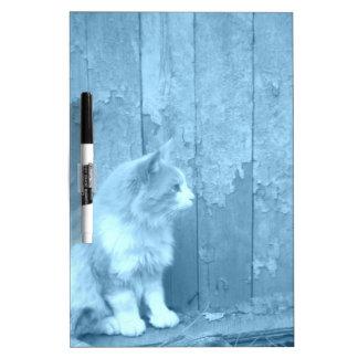 Tablero seco del borrado del gato azul de Sáhara Pizarra Blanca