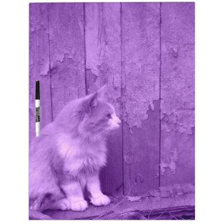 Tablero seco del borrado del gato púrpura de Sáhar Pizarras