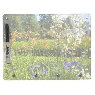 Tablero seco del borrado del jardín del iris tablero blanco