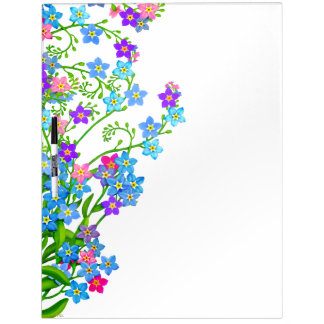 Tablero seco del borrado del jardín floral de las  tableros blancos