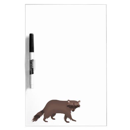 Tablero seco del borrado del mapache para las nota pizarra blanca