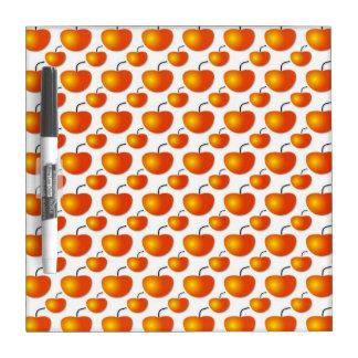 Tablero seco del borrado del modelo anaranjado pizarra blanca