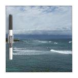 Tablero seco del borrado del océano tablero blanco