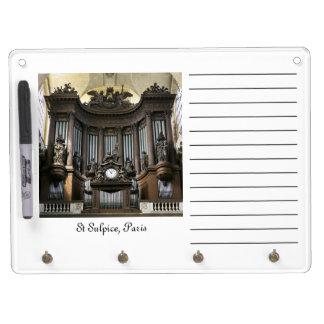 Tablero seco del borrado del órgano del St Sulpice Pizarras Blancas