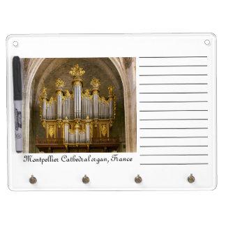 Tablero seco del borrado del órgano francés de la  pizarras