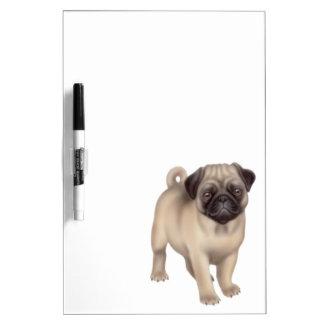 Tablero seco del borrado del perro amistoso del ba tablero blanco