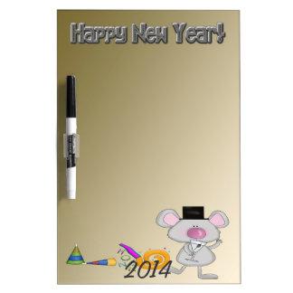 Tablero seco del borrado del ratón del Año Nuevo 1 Pizarra