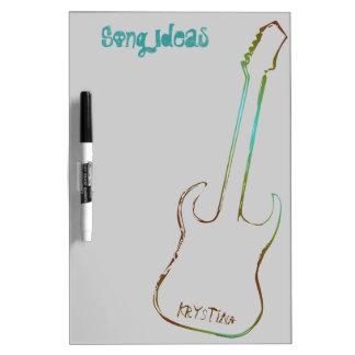 Tablero seco personalizado guitarra linear del bor tablero blanco