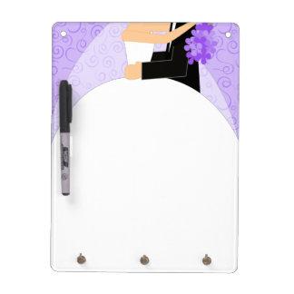 Tablero seco púrpura del borrado de la lista de lí tablero blanco