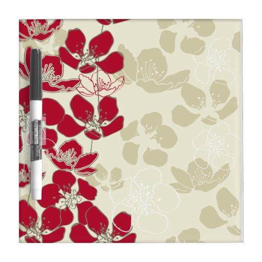 Tablero seco rojo de rubíes del borrado del diseño tablero blanco