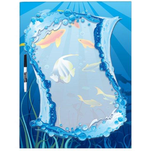Tablero subacuático de 3 Seco-Borrados Tableros Blancos