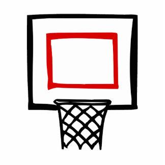 Tablero trasero y aro de baloncesto escultura fotografica