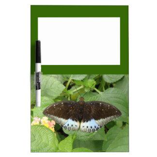 Tablero tropical bonito de la nota de la mariposa pizarras blancas de calidad