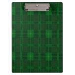 Tablero verde de la tela escocesa
