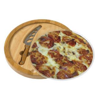 TABLERO Y BANDEJA DEL QUESO DE LA PIZZA DE