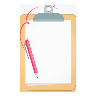 Tablero y lápiz papelería personalizada