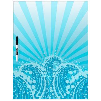 Tableros azules del Seco-Borrado del mar 1 Pizarra Blanca