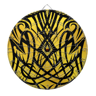 Tableros de dardo tribales amarillos