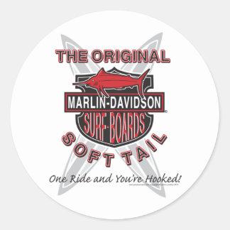 Tableros de resaca de Davidsons de la aguja Etiqueta Redonda