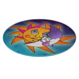 TABLEROS del CORTE DEL VIDRIO de Sun y de la luna Tabla Para Cortar