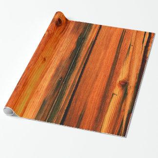 tableros rústicos de madera de pino papel de regalo