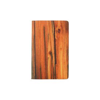 tableros rústicos del pino funda para libreta y libreta pequeña moleskine